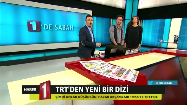 Şimdi Onlar Düşünsün oyuncuları TRT1 1'de Sabah programına katıldı.